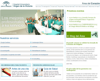 Área del Corazón del Hospital Clínico Universitario Virgen de la Victoria (Málaga)