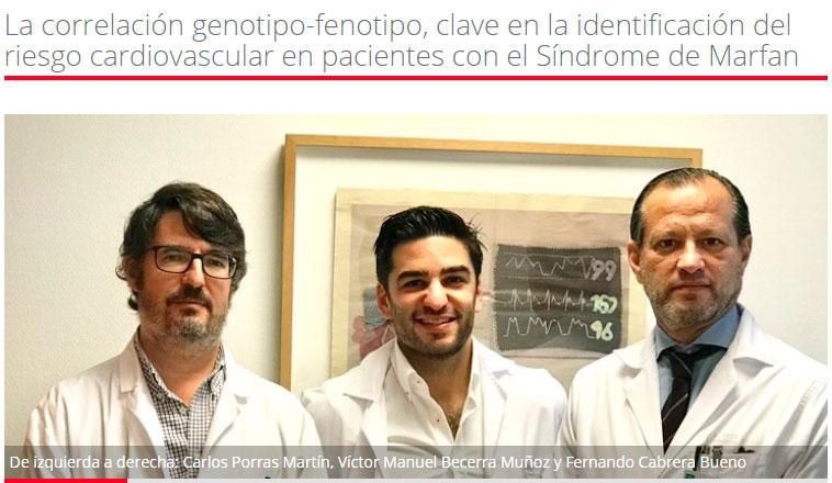 Investigación Marfan: La correlación genotipo-fenotipo, clave en la identificación del riesgo cardiovascular en pacientes con el Síndrome de Marfan